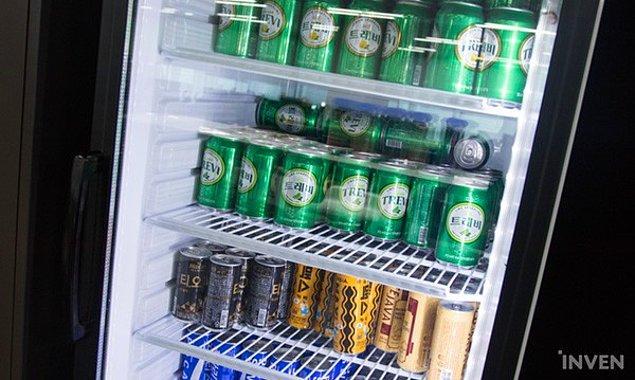 10. Buzdolabı ve sınırsız içecekler de unutulmamış.