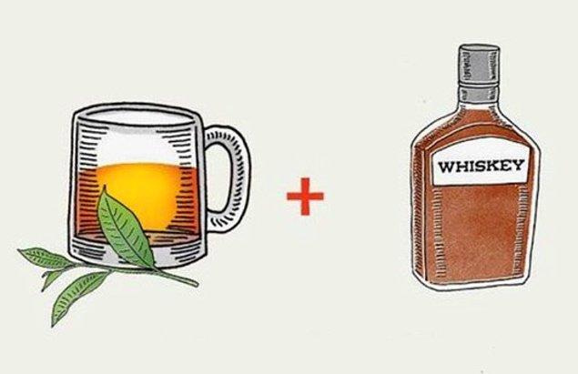 6. Biraz deli hissediyorsanız çayınıza azıcık viski karıştırın.