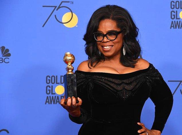 Ve Oprah teşekkür konuşmasını şu güzel sözlerle sonlandırdı;