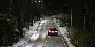 Norveç'te Enerji Tasarrufu Sağlayan Işığa Duyarlı Kara Yolu Aydınlatmaları