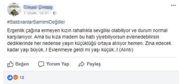 Cihat Ç., iletiyi '#SaldıranlarSamimiDeğiller' başlığı altında paylaştı.
