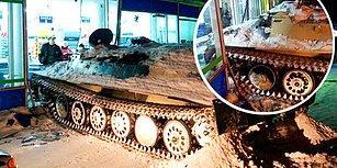 Rusya'da Çaldığı Tankla Markete Gelip Oradan da Alkol Çalan Adam