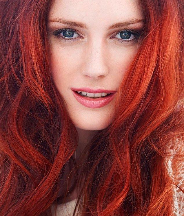 Sana en çok yakışacak saç rengi kızıl!