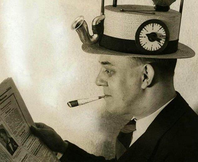 5. Marslı adam radyo şapka