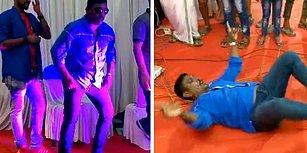 Hindistan'da Bir Eğlence Kulübünde Hunharca Dans Eden Adam
