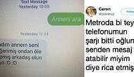 Metroda Beğendiği Kızdan Telefonunu İsteyen Fedakar Annenin Tatlı Çabası 😇