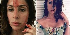 Regl Dönemi ile İlgili Tabuları Yıkmak İçin Yüzüne Kendi Mensturasyon Kanını Süren Kadın