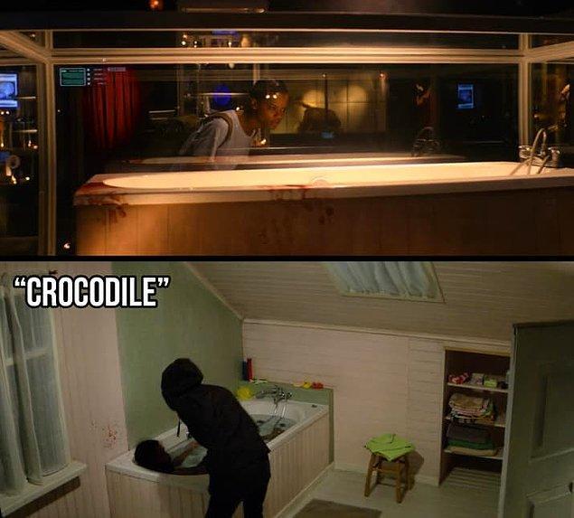 """18. """"Crocodile"""" bölümünde Mia'nın Anan'ı öldürdüğü küveti de müzede görüyoruz."""