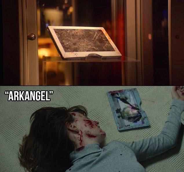 """19. """"Arkangel"""" bölümünde Sara'nın annesine vurduğu tablet de burada sergilenmekte."""