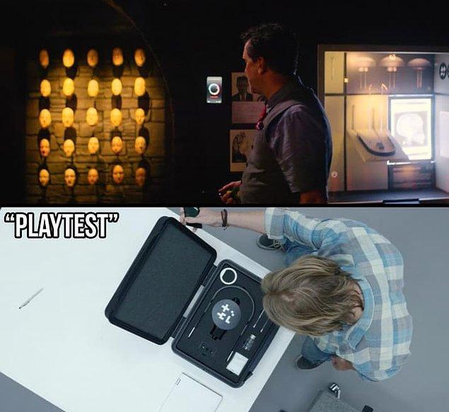 """21. """"Playtest"""" bölümündeki artırılmış gerçeklik teknolojisi de müzede gözlerden kaçmayan bir detay."""