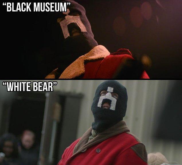"""24. 2. sezon """"White Bear"""" bölümünde maskeli adamın kostümü de aynı şekilde yine müzede bulunmakta."""