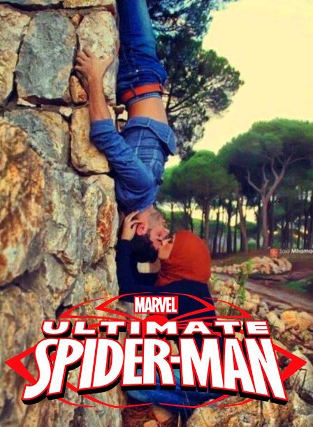 Mary Jane ve Spiderman'in o meşhur sahnesi. :)