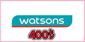 Sana Verdiğimiz 400 TL'yi Aşmadan Watsons Alışverişini Yapabilecek misin?