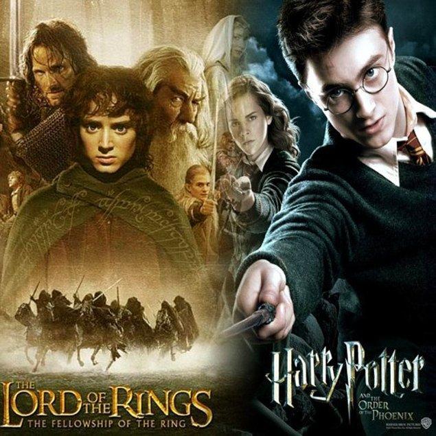 17. Harry Potter ve Yüzüklerin Efendisi serileri ne zaman bulunsa saatlerce izlenesi iki nadide yapım.