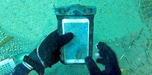 Su Altı Dedektörüyle Arizona Şelalesi'nde Tüplü Dalış Yapan Adam 9 Aydır Kayıp Olan Telefonu Buldu