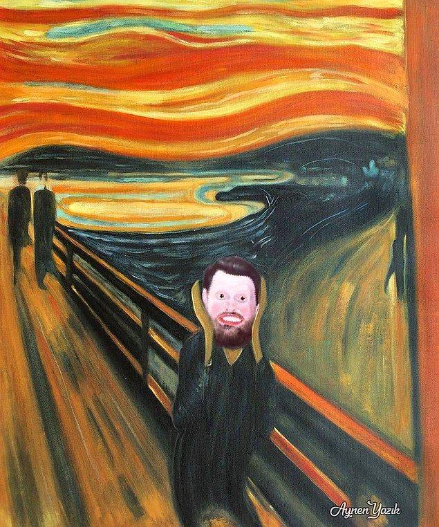 """Edvard Munch'ın """"Volki"""" adlı ölümsüz eseri."""