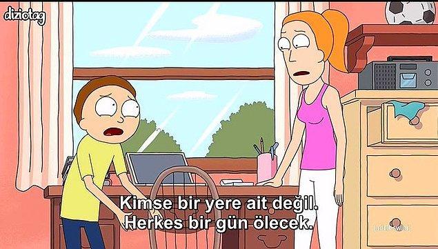 8. Hayatın ve Rick and Morty'nin acı gerçekleri