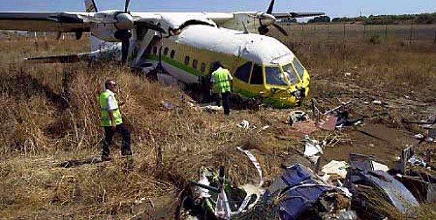 2001 yılında İspanya'nın Malaga şehrinde düşen uçakta 4 kişi hayatını kaybetmişti.