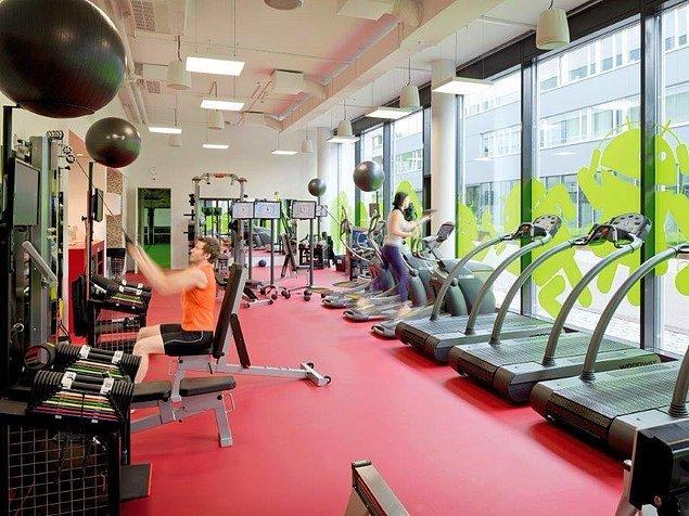 Zoogler fitness salonu da çalışanların arasında popüler bir alan.
