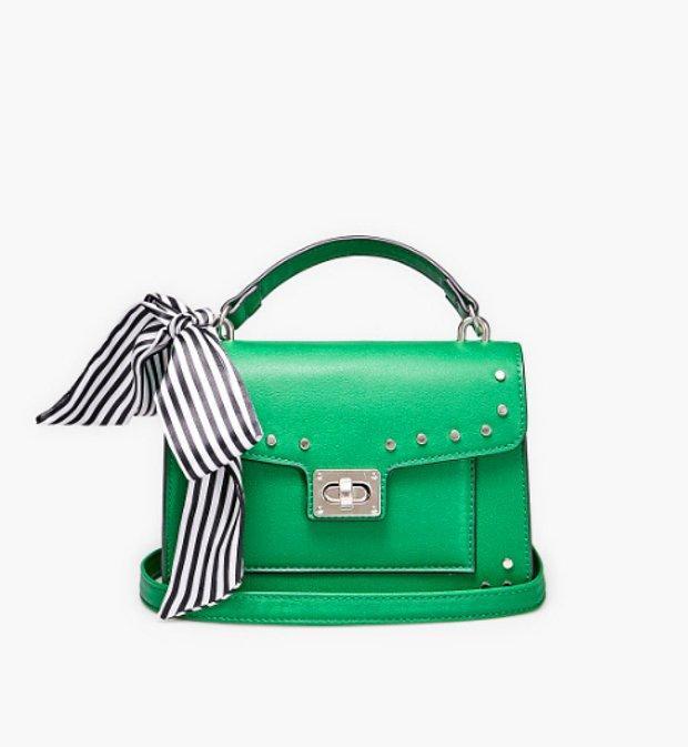 Fular detaylı cüzdan tipi çapraz askılı çanta