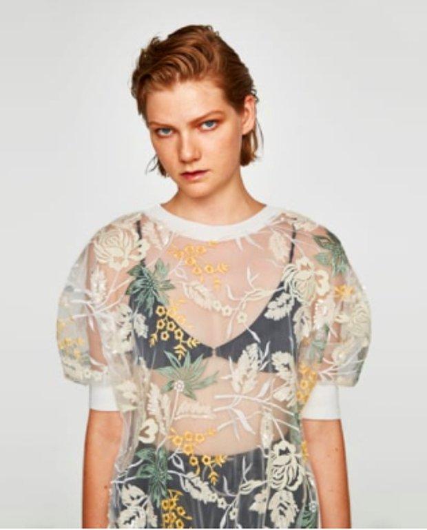 Payet işlemeli tshirt