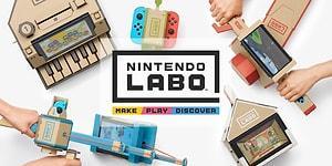 Kartonlar Oyun Aksesuarlarına Dönüşüyor: Nintendo Labo'nun Tanıtımı Yapıldı