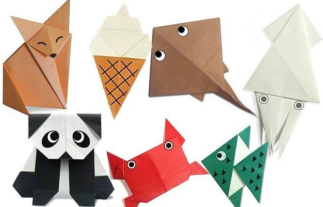 9. Yaratıcılık ve eğlencenin adresi: Basit origamiler yapın!