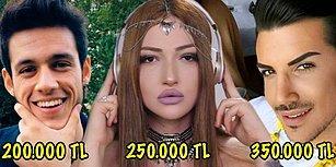 İnanılmaz Paralar Alıyorlar! İşte Türkiye'nin Ünlü Sosyal Medya Fenomenlerinin Aylık Kazançları
