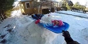 Çocukları İçin Evin Bahçesine Kayak Parkuru Yapan Baba Gibi Baba
