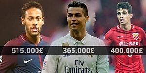 Kazandığı Paraları Sayması Bile İstihdam Yaratabilecek En Yüksek Maaşlı 12 Futbolcu
