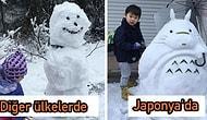 Japonya Farkı! 4 Yıl Sonra Yeniden Kar Gören Tokyo Halkının Yaptığı Hepsi Birbirinden Yaratıcı Kardan Adamlar