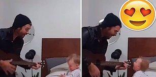 Babasının Müziğine Verdiği Tepki ile Çocuk Sahibi Olma İsteğinizde Zirve Yaptıracak Ufaklık