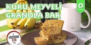 Spor Yapanlarken Tatlıdan Uzak Kalamayanlara: Kuru Meyveli Granola Bar Nasıl Yapılır?