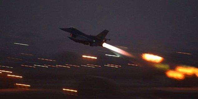 Bugün 22 uçağın katılığı harekâtta mevzi olarak kullanılan 44 hedef imha edildi.