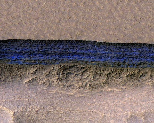 11. Mars'taki buz katmanları