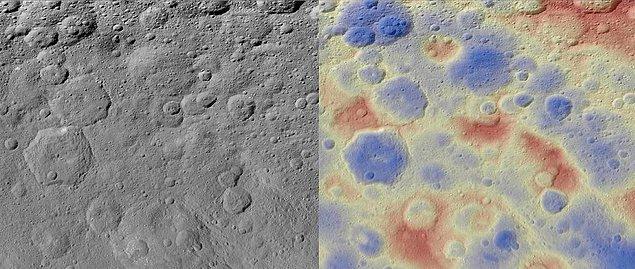 14. Ceres adlı cüce gezegendeki Kwanzaa 'dağcık'ları