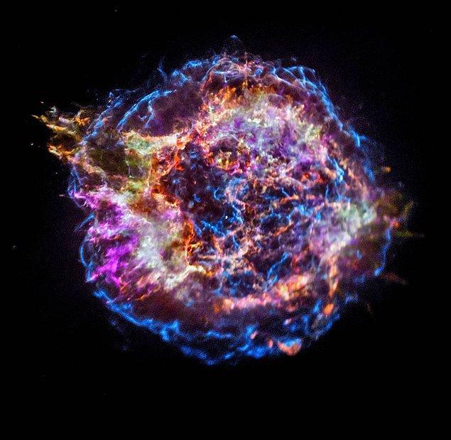 17. Süpernova patlamasından sonraki kalıntılar