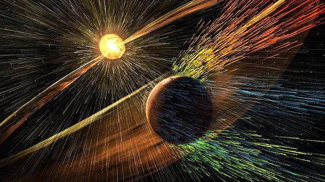 20. Güneş fırtınasının Mars'a etkisi
