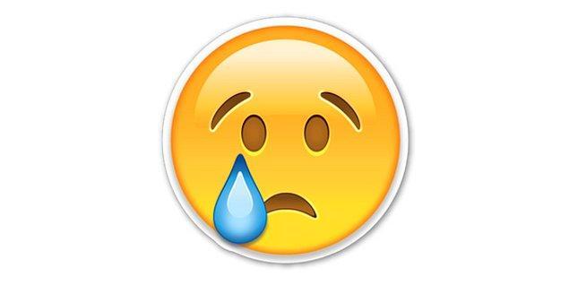 Ağlarmış gibi yapan emoji!