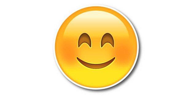 Oldukça mütevazi emojisi!
