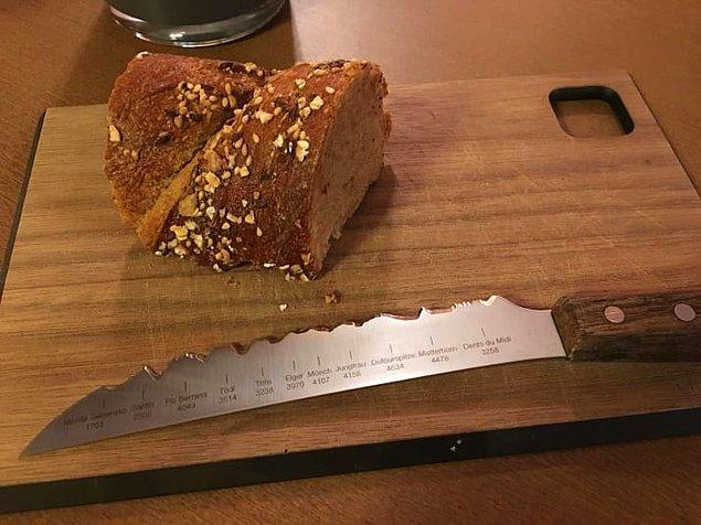 13. İsviçre Alpleri'nin zirve noktalarını gösteren bu bıçak 🤔