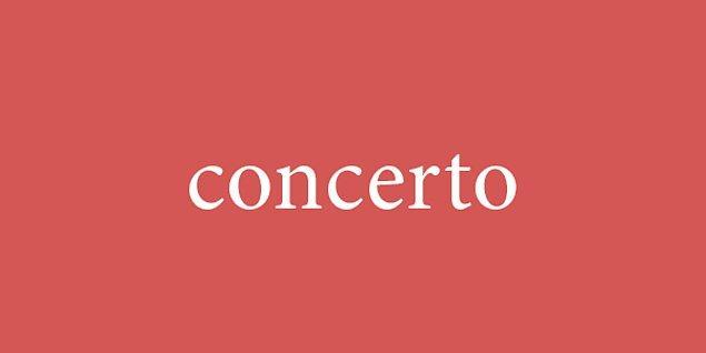 8. Kelimemiz konser