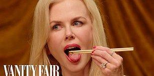 Nicole Kidman, Vanity Fair'ın Çekimlerinde Canlı Canlı Böcek Yedi!