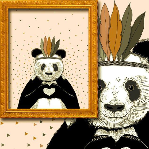 2. Türkü, henüz sıfır yaşında olan güzel kızının odasına bir hediye aldı: Pandalı Perde!