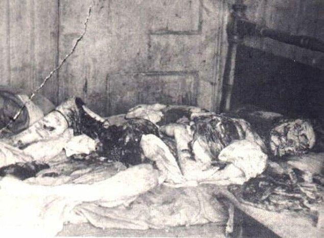 7. Kasım 1888'de Karındeşen Jack'in en tüyler ürperten cinayeti ortaya çıktı. Mary Kelly isimli bir kadının bağırsakları ve iç organları dışarı çıkartılmış ve derisi yüzülmüştü.