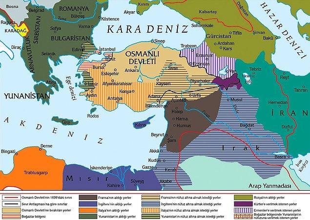 433 Maddeden oluşan Sevr Antlaşması en ince konulara kadar planlanmıştı ve oldukça detaylıydı.
