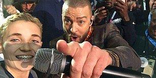 Super Bowl Performansı Sırasında Justin Timberlake'i Kırmayıp Selfie Çeken Çocuk