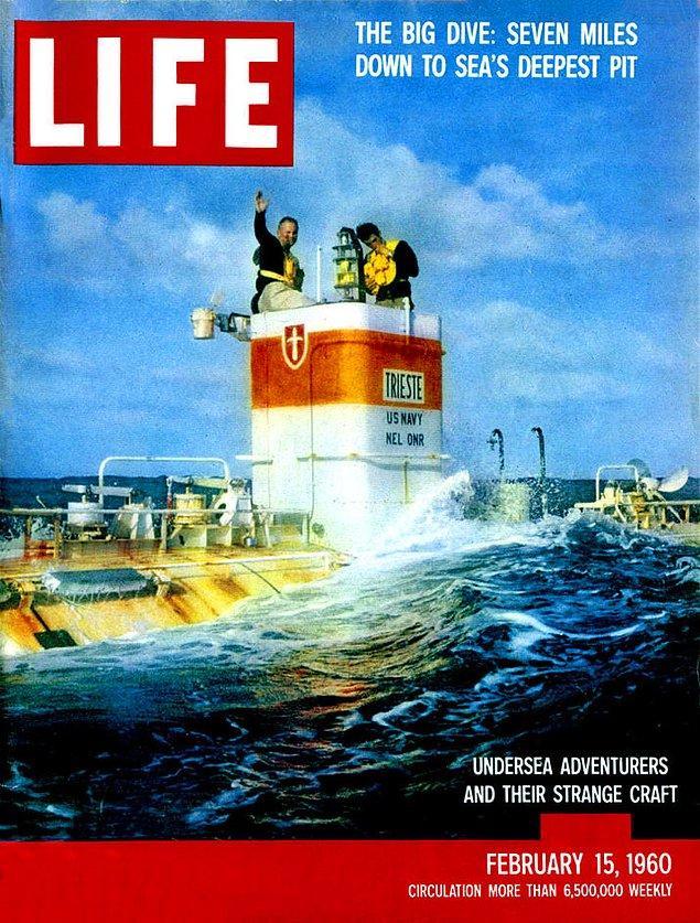 9. Günümüze kadar okyanusun bu kadar derin yerlerine sadece 3 kişi gidebildi. 1960 yılında Don Walsh ve Jacques Piccard, Challenger Çukurunun 11.000 metre derinliğinde Trieste sualtında 20 dakika kaldılar.