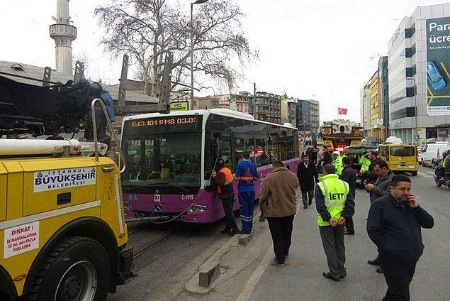 Bu kazadan bir gün sonra, 2 Şubat'ta bu sefer Kadıköy'de İBB'ye ait özel bir halk otobüsü kaza yaptı.