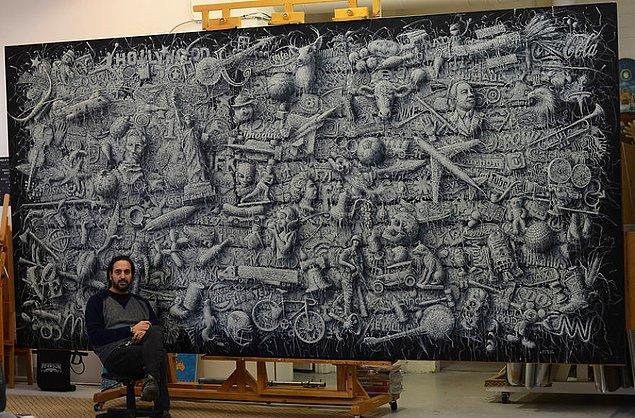 Sanatçının bazı çalışmaları: